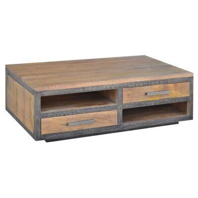 Solon Mango Wood Coffee Table, 130cm
