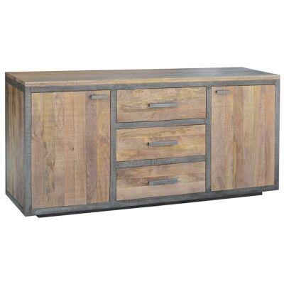 Solon Mango Wood 2 Door 3 Drawer Sideboard. 180cm