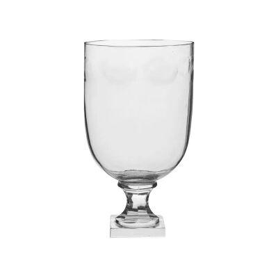 Lourdes Glass Goblet Vase, Small