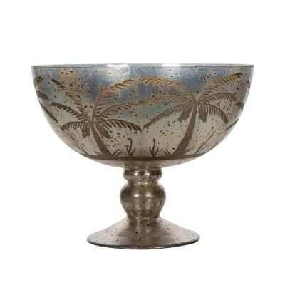 Cairo Mecury Glass Pedestal Bowl