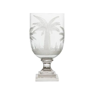 Cairo Glass Goblet Vase, Small