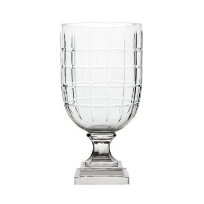 Louis Cut Glass Goblet Vase, Small