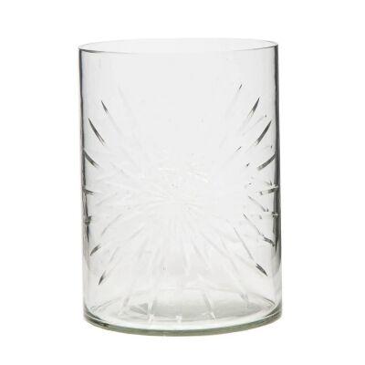 Celeste Cut Glass Cylinder Vase, Small