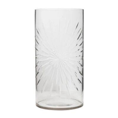 Celeste Cut Glass Cylinder Vase, Large