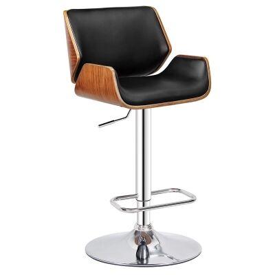 Cassasno PU Leather Gas Lift Bar Chair