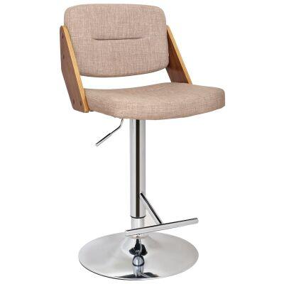 Calabria Fabric Gas Lift Bar Chair