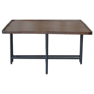 Mirabel Mango Wood & Metal Square Coffee Table, 80cm