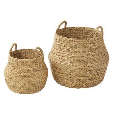 Enlai 2 Piece Water Hyacinth Basket Set