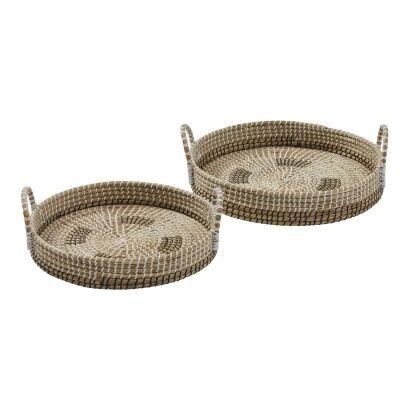 Odawa 2 Piece Seagrass Tray Set