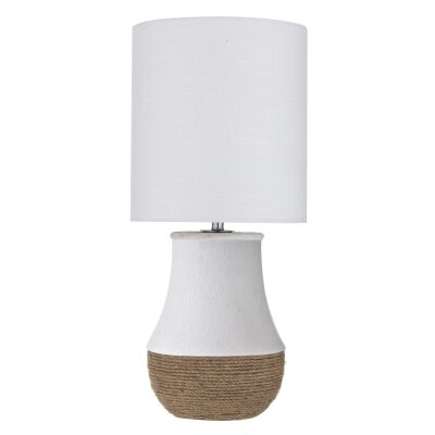Newhaven Ceramic & Rope Base Table Lamp