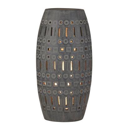 Pavel Ceramic Table Lamp, Black Wash