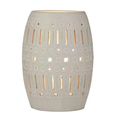 Pavel Ceramic Table Lamp, Grey Wash