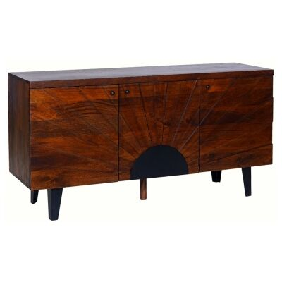Seaton Mango Wood 3 Door Buffet Table, 145cm
