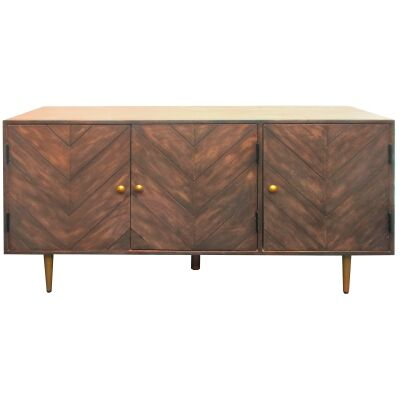 Berrien Mango Wood 3 Door Buffet Table, 145cm