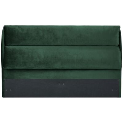 Velvet Fabric Bed Headboard, Queen