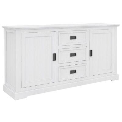 Narellan Acacia Timber 2 Door 3 Drawer Buffet Table, 166cm