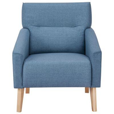 Everton Fabric Armchair, Blue