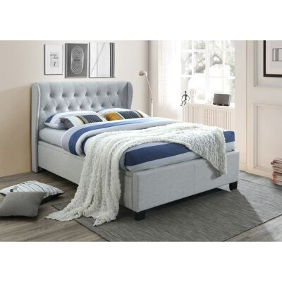 Pascal Fabric Bed with Gaslift Storage, Queen
