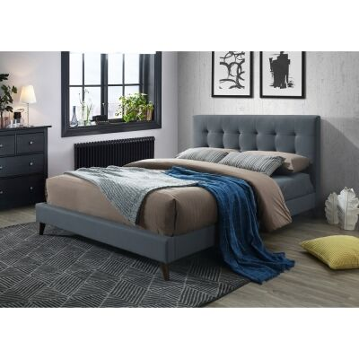 Paradox Fabric Bed, Double, Charcoal