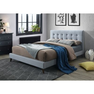 Paradox Fabric Bed, Double, Light Grey