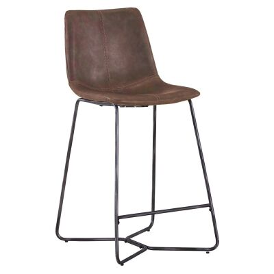 Forster PU Leather Counter Stool, Brown
