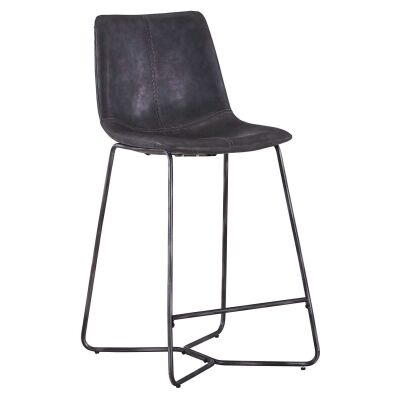 Forster PU Leather Counter Stool, Charcoal