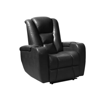 Sancrox Leather Electrical Recliner Armchair, Black