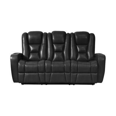Sancrox Leather Electrical Recliner Sofa, 3 Seater, Black