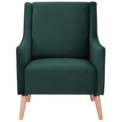 Boneo Fabric Armchair, Green