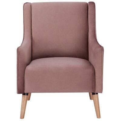 Boneo Fabric Armchair, Blush