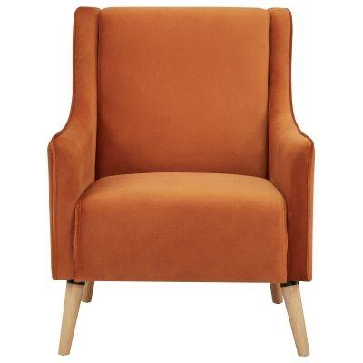 Boneo Fabric Armchair, Cinnamon