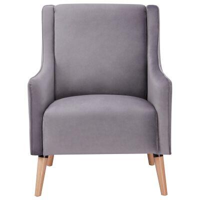 Boneo Fabric Armchair, Grey