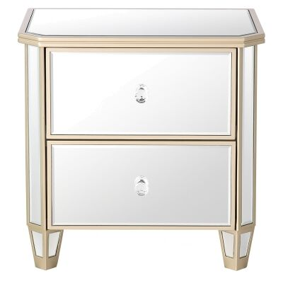 Wallace Mirrored Bedside Table