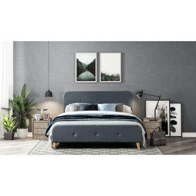 Miller Fabric Bed, Queen, Charcoal