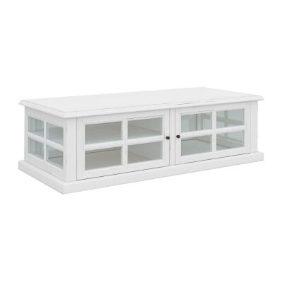 Tilbury Acacia Timber 2 Door Coffee Table, 120cm, White