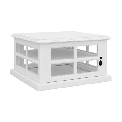 Tilbury Acacia Timber Side Table, White