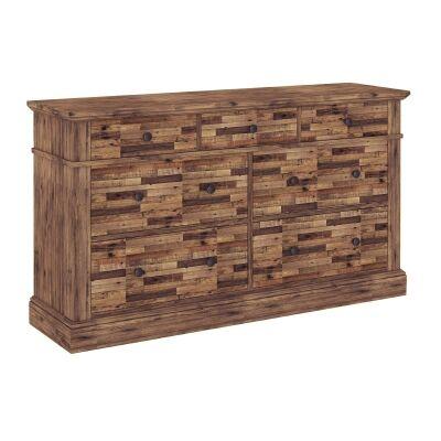 Edensor Recycled Pine Timber 7 Drawer Dresser