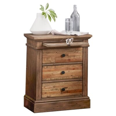Edensor Recycled Pine Timber Bedside Table