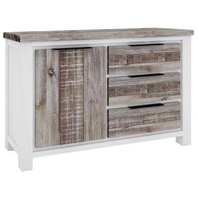 Nordington Acacia Timber 1 Door 3 Drawer Buffet Table, 145cm