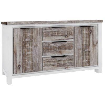Nordington Acacia Timber 2 Door 3 Drawer Buffet Table, 200cm