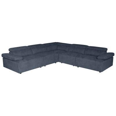 Calder Fabric Modular Corner Sofa, 6 Seater, Dark Grey