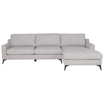 Tansi Fabric Corner Sofa, 2 Seater with Reversible Chaise, Beige