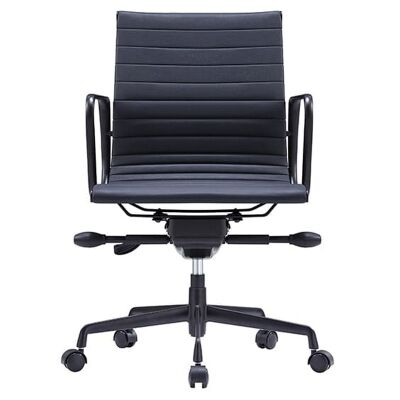 Volt PU Leather Boardroom Chair, Black
