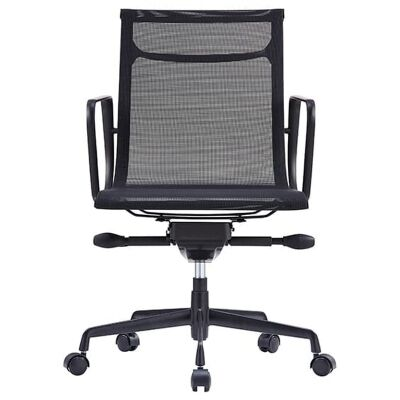 Volt Fabric Mesh Boardroom Chair, Black
