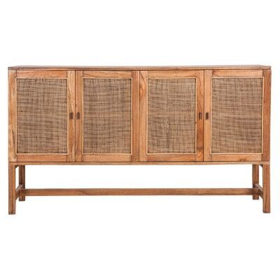 Bairnsdale Mindi Wood 4 Door Sideboard, 160cm