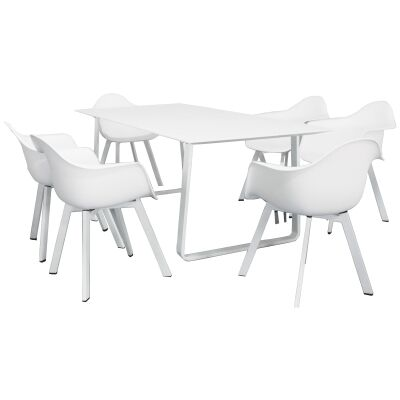 Bauer 7 Piece Outdoor Dining Table Set, 200cm