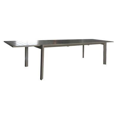 Ruby Aluminium Outdoor Extensible Dining Table (Table Only), 220cm-340cm, Champagne