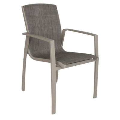 Ruby Aluminium Outdoor Sling Dining Armchair, Champagne