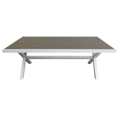 Ruby Aluminium Outdoor Dining Table, 210cm, White