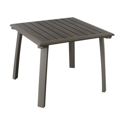 Ruby Aluminium Outdoor Side Table, Champagne